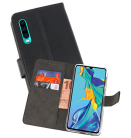Wallet Cases Hoesje Huawei P30 Zwart