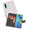 Wallet Cases Hoesje Huawei P30 Wit