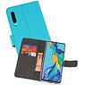 Wallet Cases Hoesje Huawei P30 Blauw