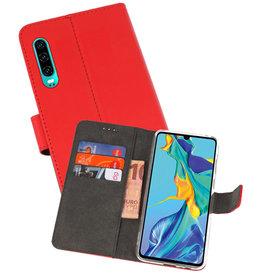 Wallet Cases Hoesje Huawei P30 Rood