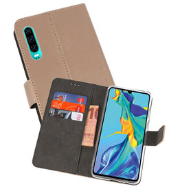 Wallet Cases Hoesje Huawei P30 Goud