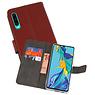 Wallet Cases Hoesje Huawei P30 Bruin