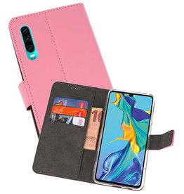 Wallet Cases Hoesje Huawei P30 Roze