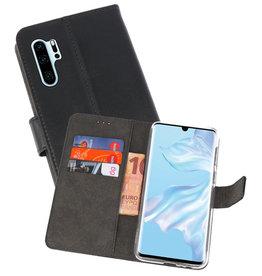 Wallet Cases Hoesje Huawei P30 Pro Zwart