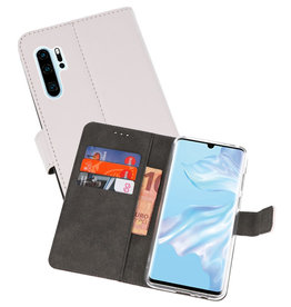 Wallet Cases Hoesje Huawei P30 Pro Wit