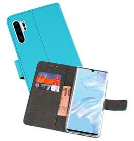 Wallet Cases Hoesje Huawei P30 Pro Blauw
