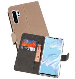 Wallet Cases Hoesje Huawei P30 Pro Goud