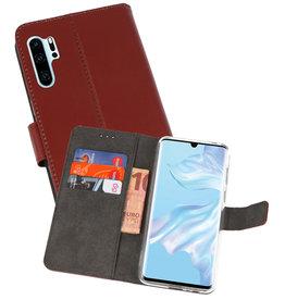 Wallet Cases Hoesje Huawei P30 Pro Bruin