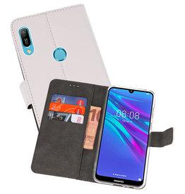 Wallet Cases Hoesje Huawei Y6 / Y6 Prime 2019 Wit