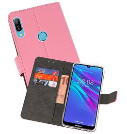 Wallet Cases Hoesje Huawei Y6 / Y6 Prime 2019 Roze