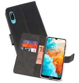 Wallet Cases Hoesje Huawei Y6 Pro 2019 Zwart