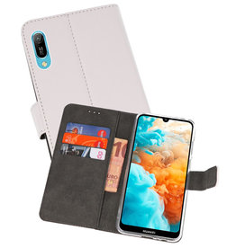 Wallet Cases Hoesje Huawei Y6 Pro 2019 Wit