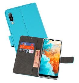 Wallet Cases Hoesje Huawei Y6 Pro 2019 Blauw