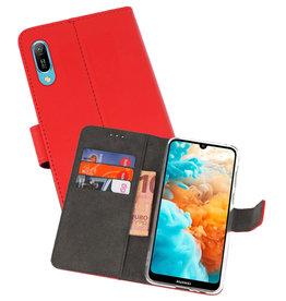 Wallet Cases Hoesje Huawei Y6 Pro 2019 Rood
