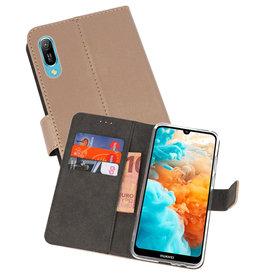 Wallet Cases Hoesje Huawei Y6 Pro 2019 Goud