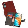 Wallet Cases Hoesje Huawei Y6 Pro 2019 Bruin