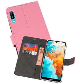 Wallet Cases Hoesje Huawei Y6 Pro 2019 Roze