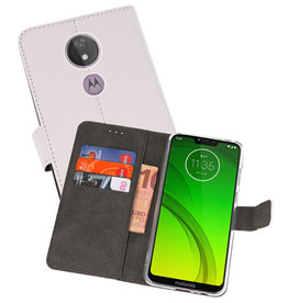 Wallet Cases Hoesje Motorola Moto G7 Power Wit