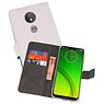 Wallet Cases Hoesje Motorola Moto G7 Power Wit