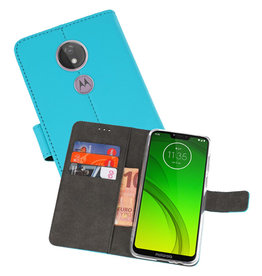 Wallet Cases Hoesje Motorola Moto G7 Power Blauw