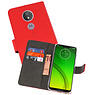 Wallet Cases Hoesje Motorola Moto G7 Power Rood