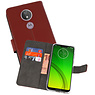 Wallet Cases Hoesje Motorola Moto G7 Power Bruin