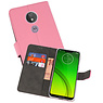 Wallet Cases Hoesje Motorola Moto G7 Power Roze