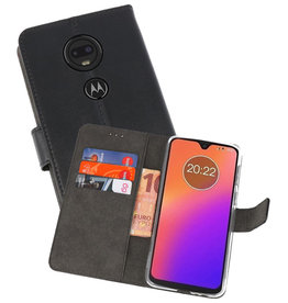 Wallet Cases Hoesje Motorola Moto G7 Zwart