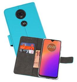 Wallet Cases Hoesje Motorola Moto G7 Blauw
