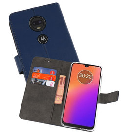 Wallet Cases Hoesje Motorola Moto G7 Navy