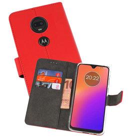 Wallet Cases Hoesje Motorola Moto G7 Rood