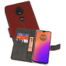 Wallet Cases Hoesje Motorola Moto G7 Bruin