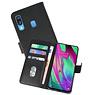 Samsung Galaxy A40 Hoesje Kaarthouder Book Case Telefoonhoesje Zwart