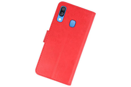Bookstyle Wallet Cases Hoesje voor Samsung Galaxy A40 Rood
