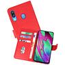 Samsung Galaxy A40 Hoesje Kaarthouder Book Case Telefoonhoesje Rood