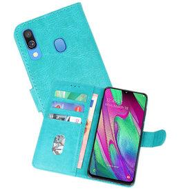 Samsung Galaxy A40 Hoesje Kaarthouder Book Case Telefoonhoesje Groen