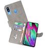 Samsung Galaxy A40 Hoesje Kaarthouder Book Case Telefoonhoesje Grijs