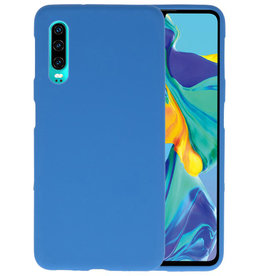Color TPU Hoesje Huawei P30 Navy