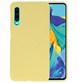 BackCover Hoesje Color Telefoonhoesje Huawei P30 - Geel