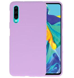 Color TPU Hoesje Huawei P30 Paars