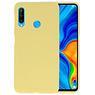 BackCover Hoesje Color Telefoonhoesje Huawei P30 Lite - Geel