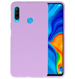 BackCover Hoesje Color Telefoonhoesje Huawei P30 Lite - Paars