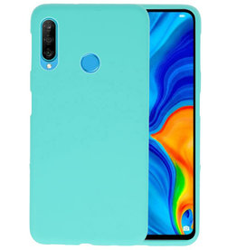 BackCover Hoesje Color Telefoonhoesje Huawei P30 Lite - Turquoise