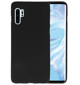 BackCover Hoesje Color Telefoonhoesje Huawei P30 Pro - Zwart
