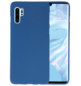 Color TPU Hoesje Huawei P30 Pro Navy