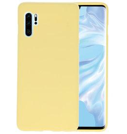 BackCover Hoesje Color Telefoonhoesje Huawei P30 Pro - Geel
