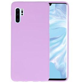 Color TPU Hoesje Huawei P30 Pro Paars