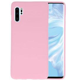 Color TPU Hoesje Huawei P30 Pro Roze