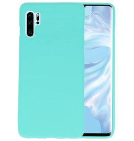 BackCover Hoesje Color Telefoonhoesje Huawei P30 Pro - Turquoise