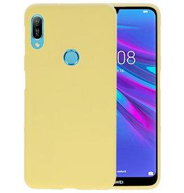 Color TPU Hoesje Huawei Y6 (Prime) 2019 Geel
